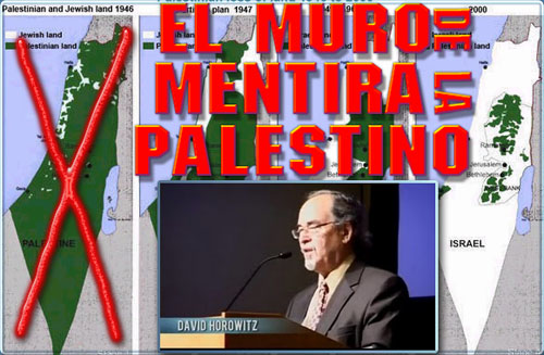 El muro de la mentira palestino